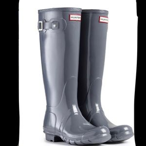 Tall Glossy Hunter Rain Boots